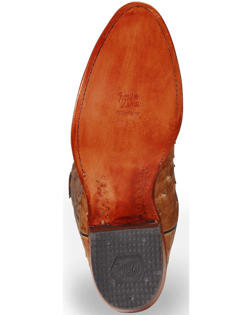 Tony Lama Men's Durmont Tan Full Quill Ostrich Cowboy Boots - Medium Toe, Antique Tan, hi-res