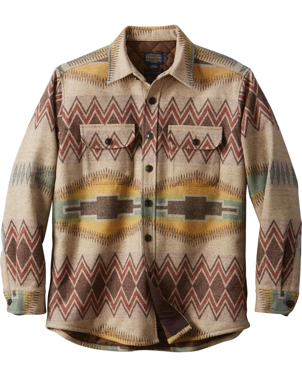 Pendleton Men's Tan Thomas Kay CPO Quilted Shirt Jacket, Tan, hi-res