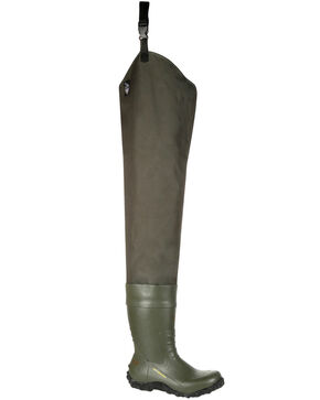 Georgia Boot Men's Waterproof Wader Boots - Round Toe, Green, hi-res