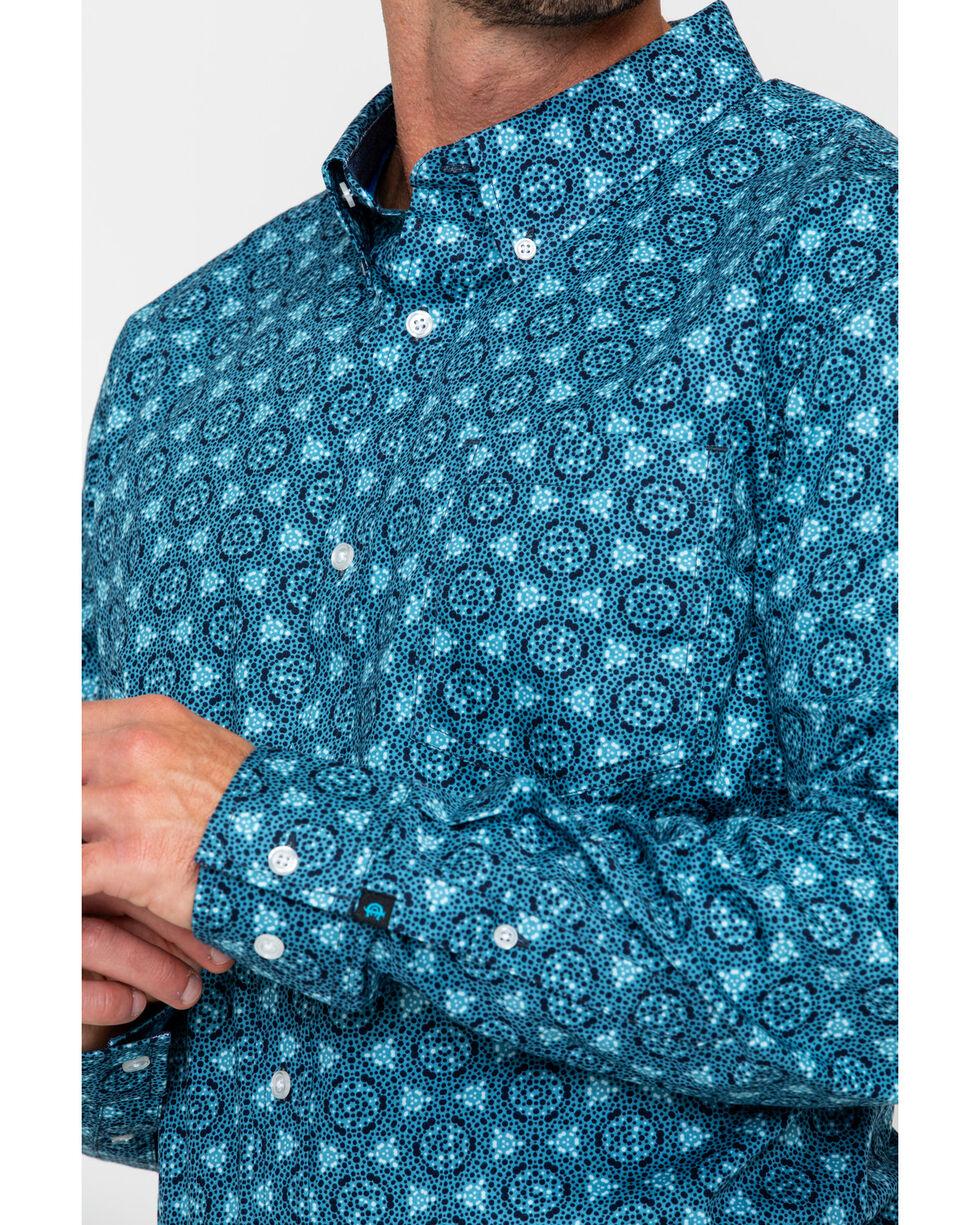 Cody James Men's Myles Floral Print Long Sleeve Western Shirt, Blue, hi-res