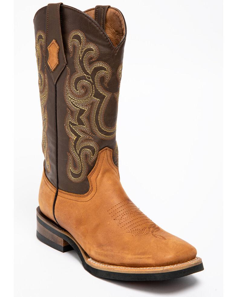 Ferrini Men's Maverick Cowboy Boots - Square Toe, Brown, hi-res