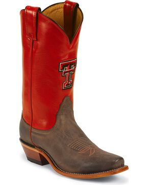 Nocona Women's Texas Tech University College Boots, Tan, hi-res