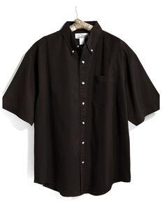 Tri-Mountain Men's Black 3X Solid Recruit Short Sleeve Work Shirt - Big, Black, hi-res