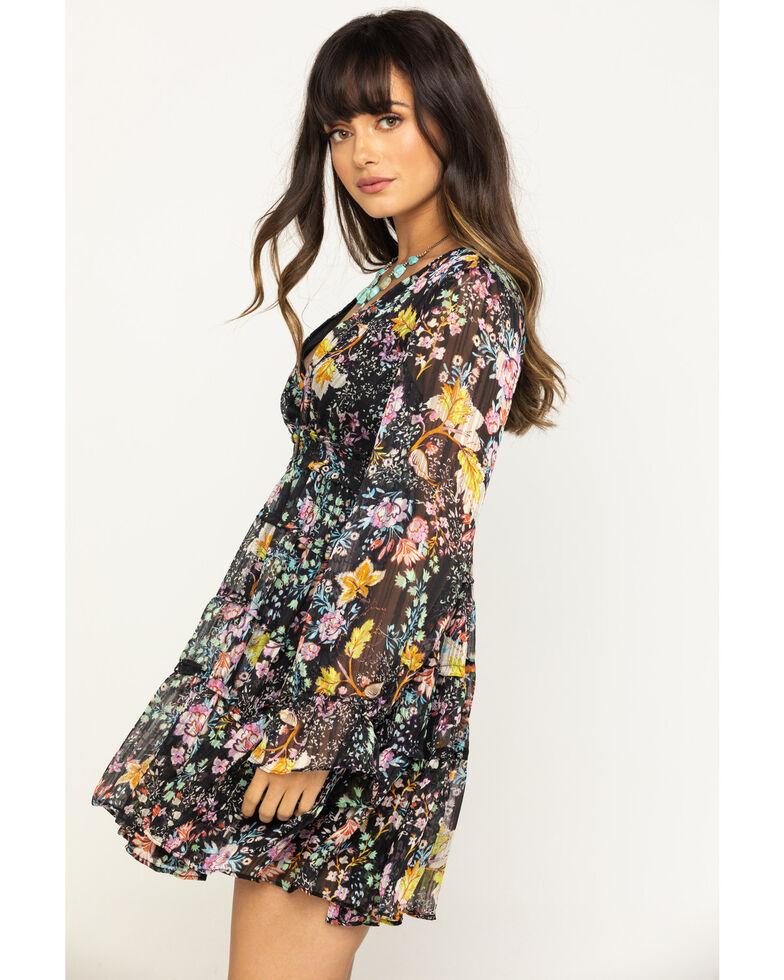 Free People Women's Closer To Heart Mini Dress, Black, hi-res