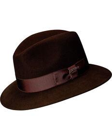 Scala Men's Brown Wool Felt Safari Hat, Brown, hi-res