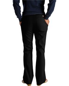 Dickies Women's Flat Front Stretch Twill Pants, Black, hi-res