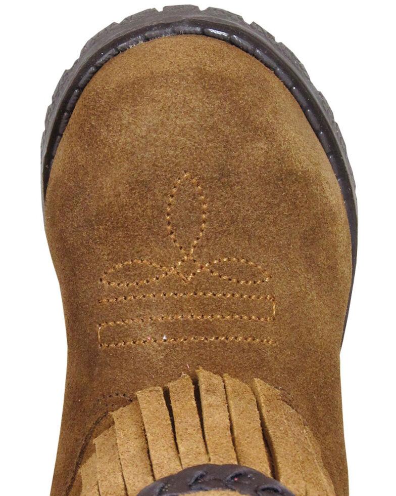 Smoky Mountain Toddler Girls' Hopalong Fringe Western Boots - Round Toe, Brown, hi-res