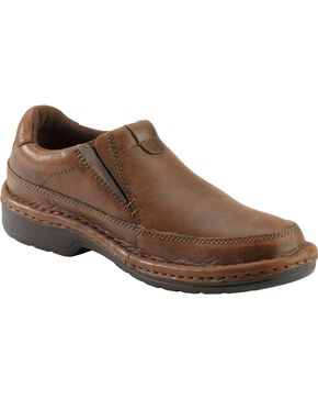 Roper Men's Casual Slip-On Shoes, Brown, hi-res