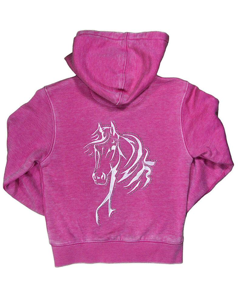 Cowgirl Hardware Toddler Girls'  Pink Bella Horse Zip Up Hoodie, Pink, hi-res
