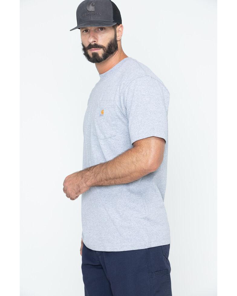 Carhartt Men's Solid Short Sleeve Pocket Work T-Shirt - Big & Tall, Hthr Grey, hi-res