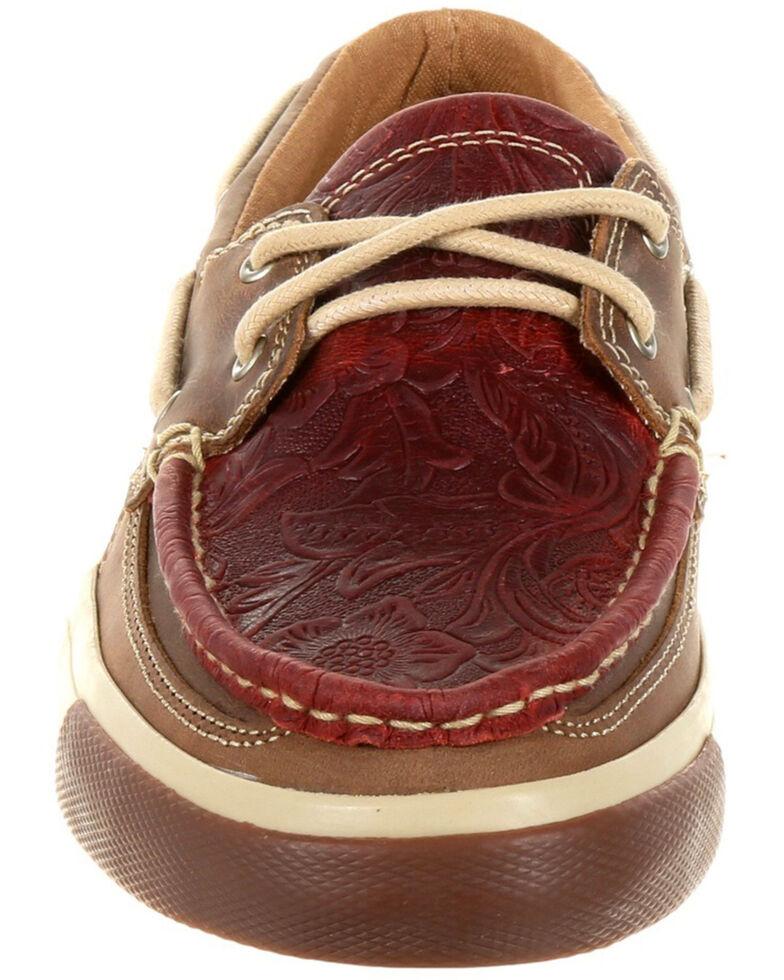 Durango Women's Music City Boat Shoes - Moc Toe, Natural, hi-res