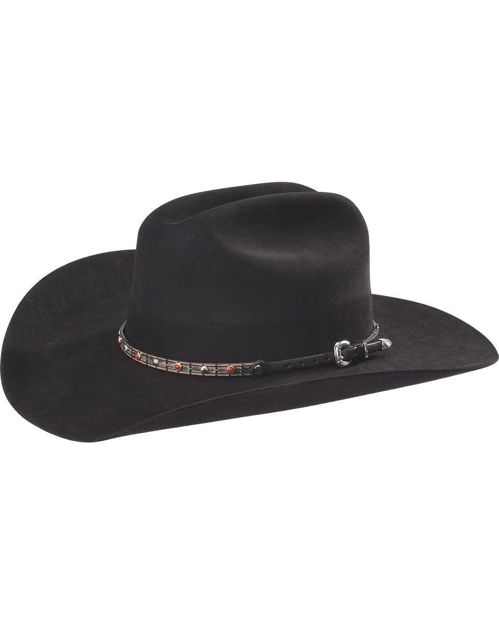 Phunky Horse Crystal Leather Hat Band , Beige/khaki, hi-res