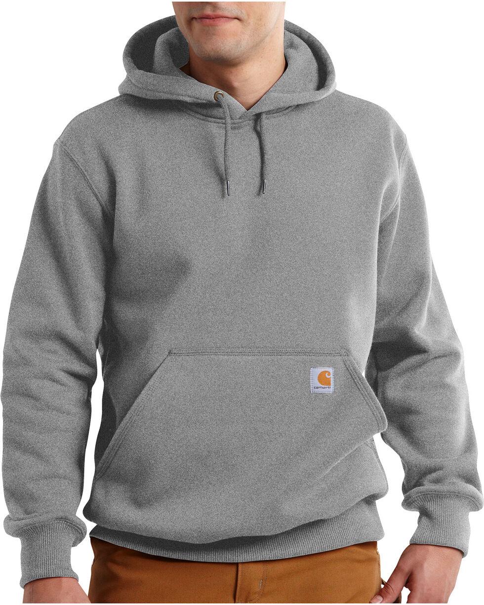 Carhartt Men's Rain Defender Paxton Heavyweight Hooded Sweatshirt, Hthr Grey, hi-res