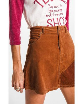 White Crow Women's Brushed Corduroy Mini Skirt , Brown, hi-res