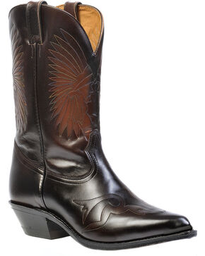 "Boulet Men's 12"" Challenger Indian Head Cowboy Boots, Russet, hi-res"