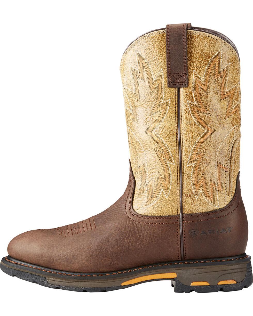 Ariat Men's Chocolate Workhog Raptor Western Boots - Round Toe , Chocolate, hi-res