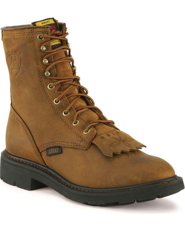 "Ariat Men's 8"" Cascade Work Boot, Aged Bark, hi-res"