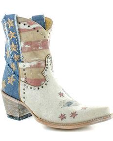 Old Gringo Women's Jorie Short Western Booties - Snip Toe, Taupe, hi-res