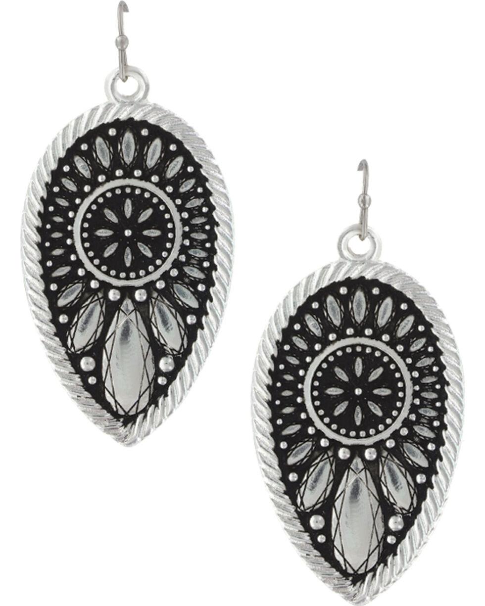 Montana Silversmiths Women's Sunset Prairie Clover Earrings, Silver, hi-res