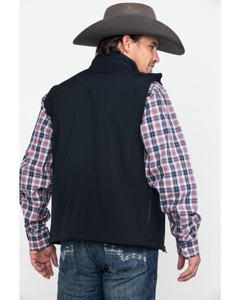 Justin Men's Black Laminated Bonded Vest , Black, hi-res