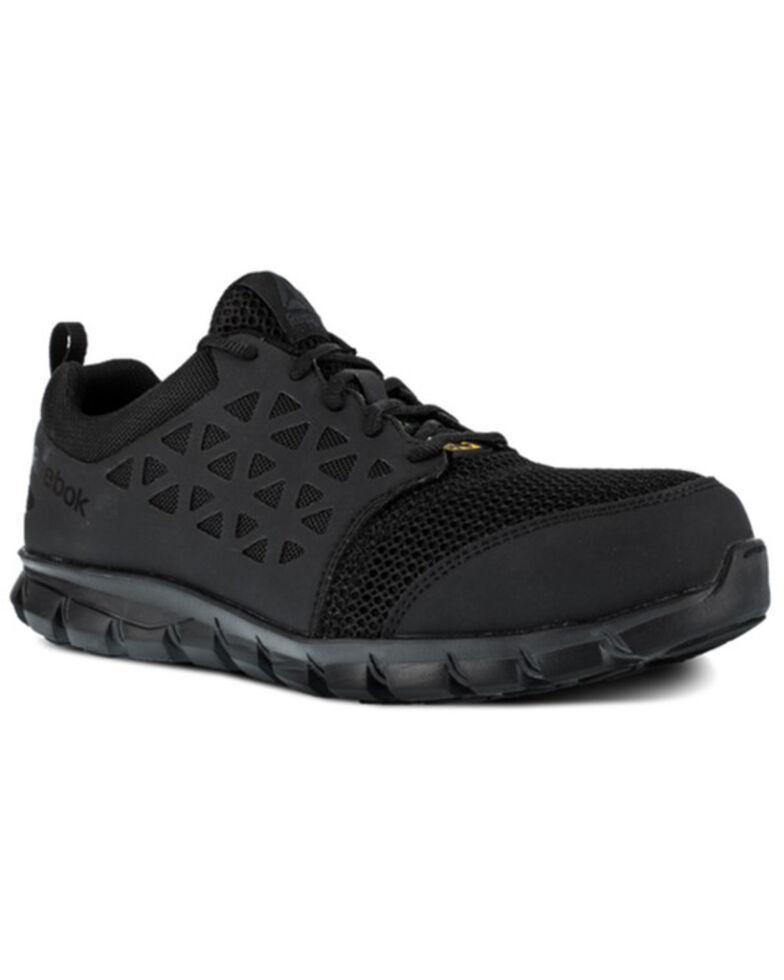 Reebok Men's Sublite Work Boots - Composite Toe, Black, hi-res
