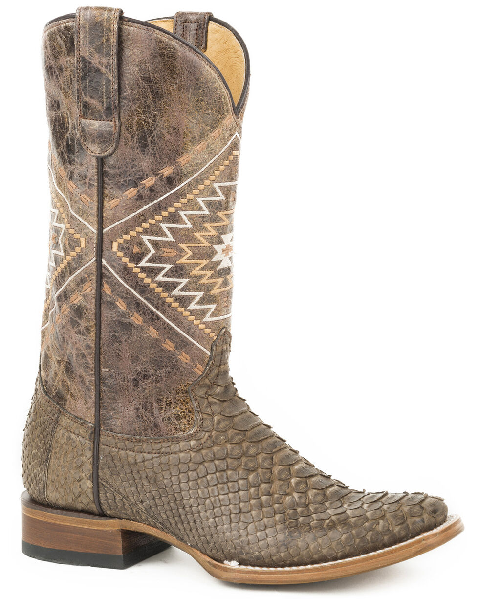 Roper Women's Brown Eroica Python Skin Boots - Pointed Toe, Brown, hi-res