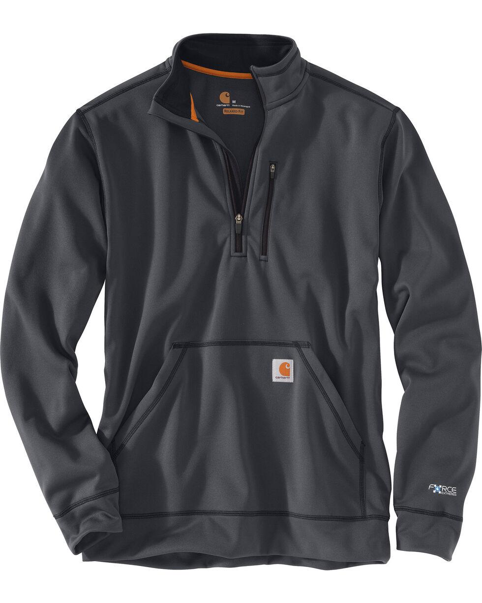 Carhartt Men's Force Extremes Mock-Neck Half-Zip Sweatshirt - Big, Charcoal, hi-res