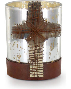 BB Ranch® Bonded Faith Candle Holder , Silver, hi-res