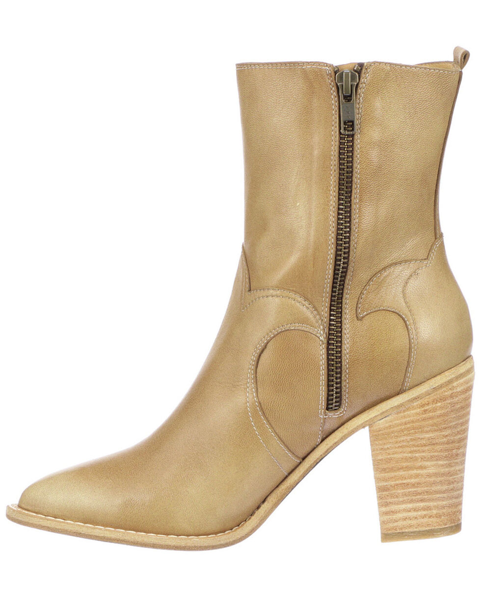 Lucchese Women's Twyla Fashion Booties - Medium Toe, Tan, hi-res