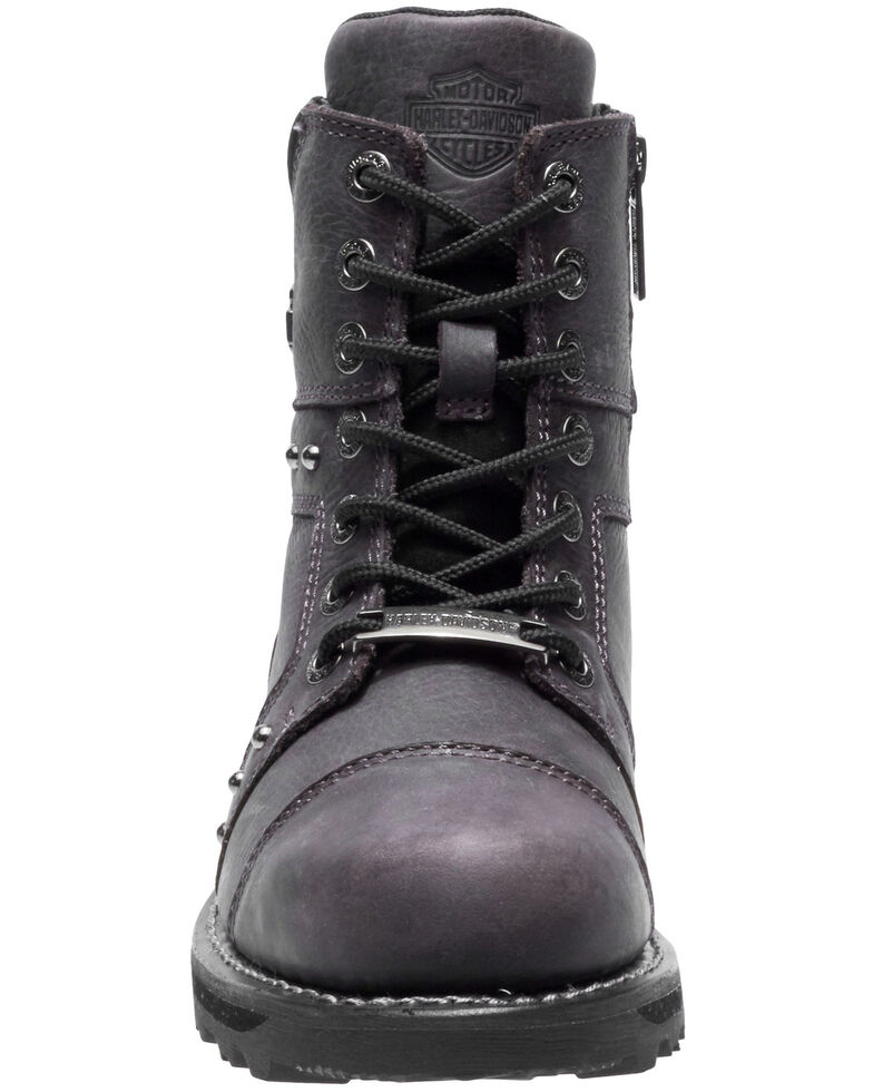 Harley Davidson Women's Oakleigh Moto Boots - Round Toe, Grey, hi-res