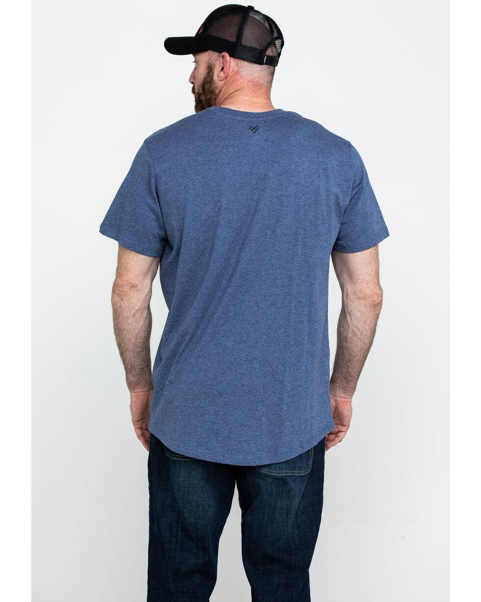 Hawx® Men's Pocket Crew Short Sleeve Work T-Shirt - Tall , Heather Blue, hi-res
