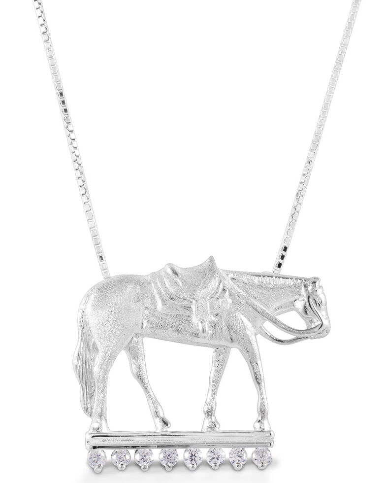 Kelly Herd Women's Large Western Pleasure Horse Necklace , Silver, hi-res