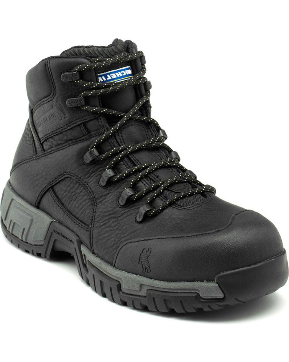 Michelin HydroEdge Waterproof Work Boots, Black, hi-res