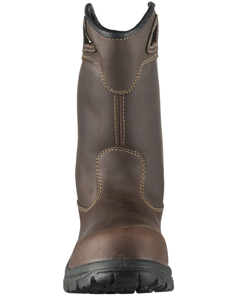 Avenger Men's Framer Waterproof Western Work Boots - Composite Toe, Brown, hi-res