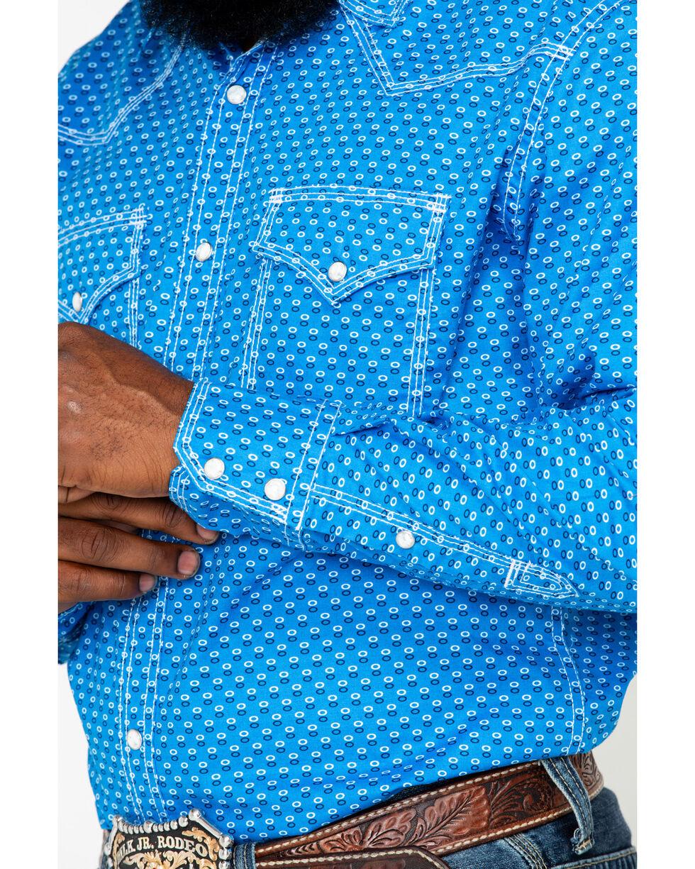 Wrangler 20X Men's Competition Advancaed Long Sleeve Western Shirt, Black/blue, hi-res