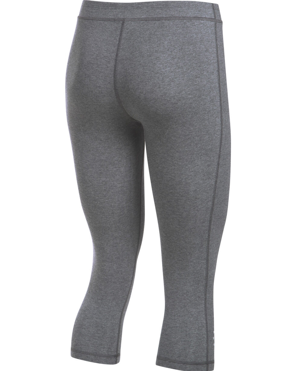 Under Armour Women's Charcoal Grey HeatGear® Training Capris, Charcoal Grey, hi-res