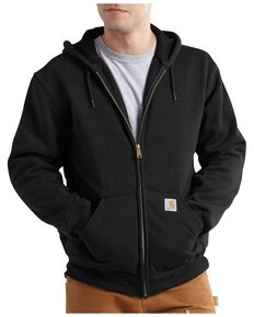 Carhartt Men's Hooded Zip-Up Sweatshirt, Black, hi-res