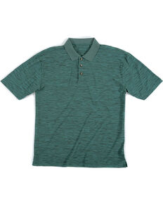 Wrangler Riggs Men's Green Short Sleeve Polo Work Shirt , Green, hi-res