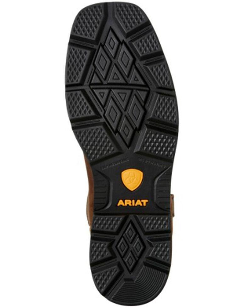 Ariat Men's Groundbreaker Square Toe Western Work Boots, Brown, hi-res