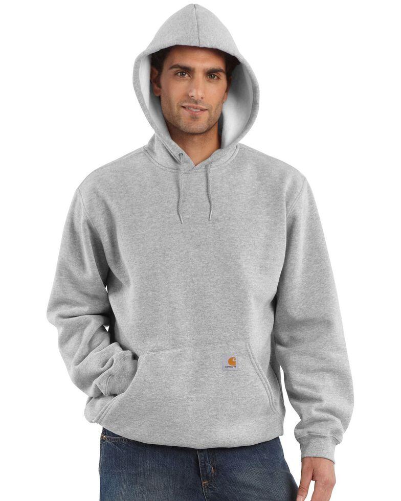Carhartt Midweight Hooded Pullover Sweatshirt, Hthr Grey, hi-res