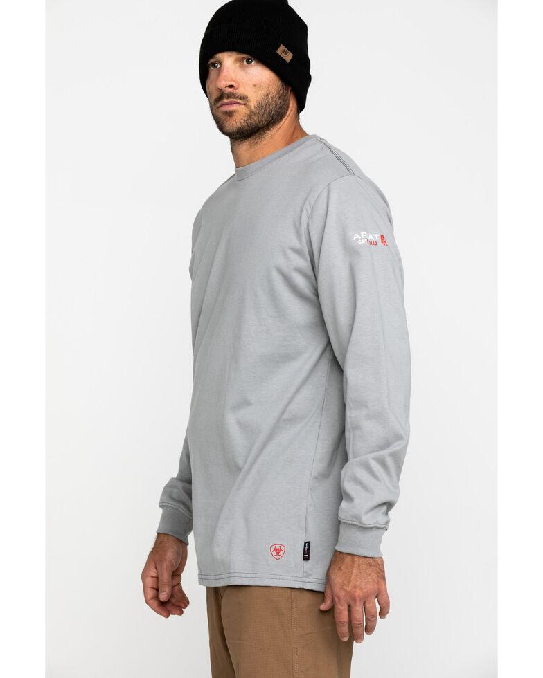 Ariat Men's Grey FR American Oil Graphic Long Sleeve Work T-Shirt , Grey, hi-res