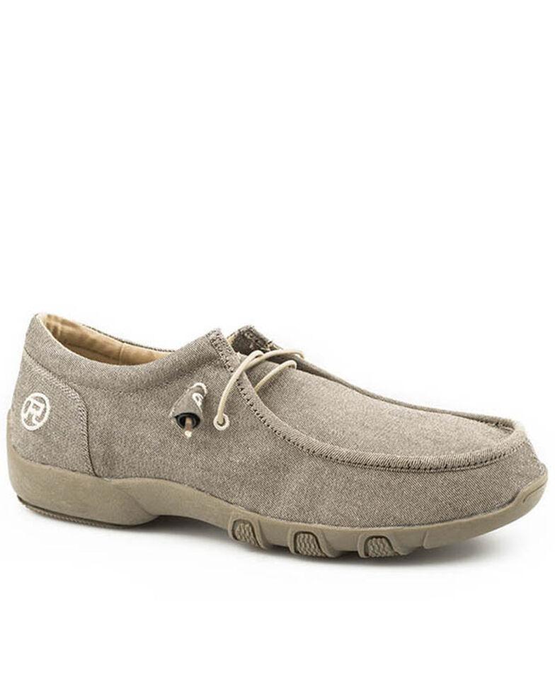 Roper Men's Chillin Tan Shoes - Moc Toe, Tan, hi-res