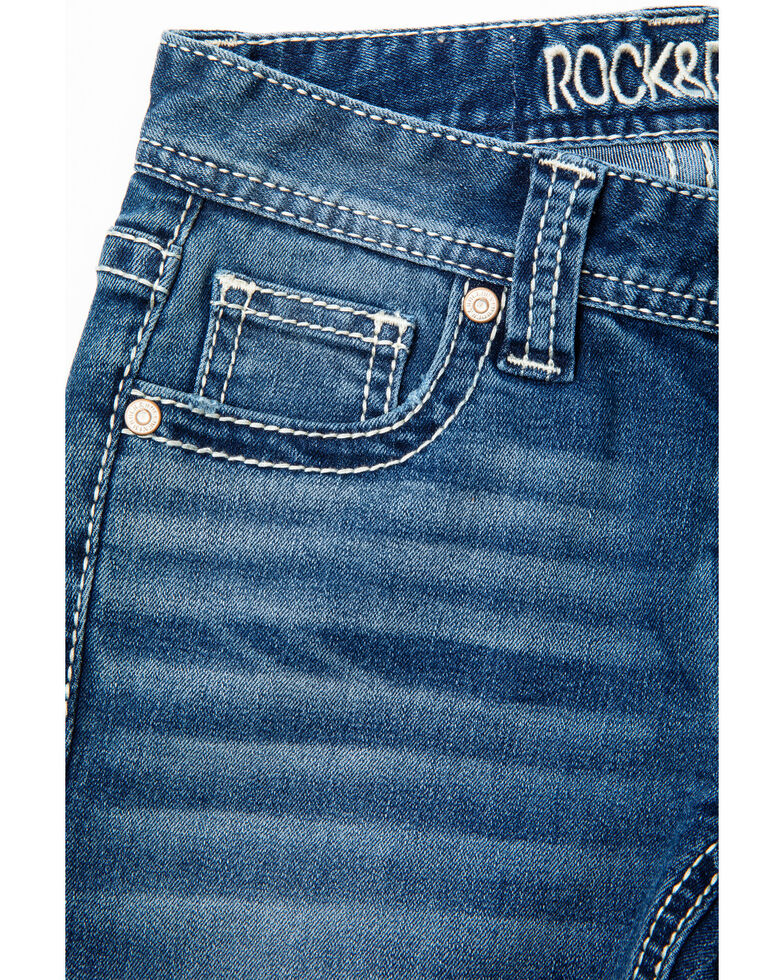 Rock & Roll Cowgirl Girls' Extra Stretch Multicolor Jeans, Light Blue, hi-res