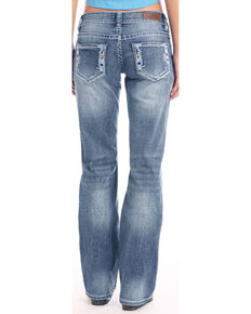 Rock & Roll Cowgirl Women's Light Wash Riding Bootcut Jeans, Blue, hi-res