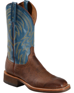 "Lucchese Men's 12"" Alan Square Toe Western Boots, Cognac, hi-res"