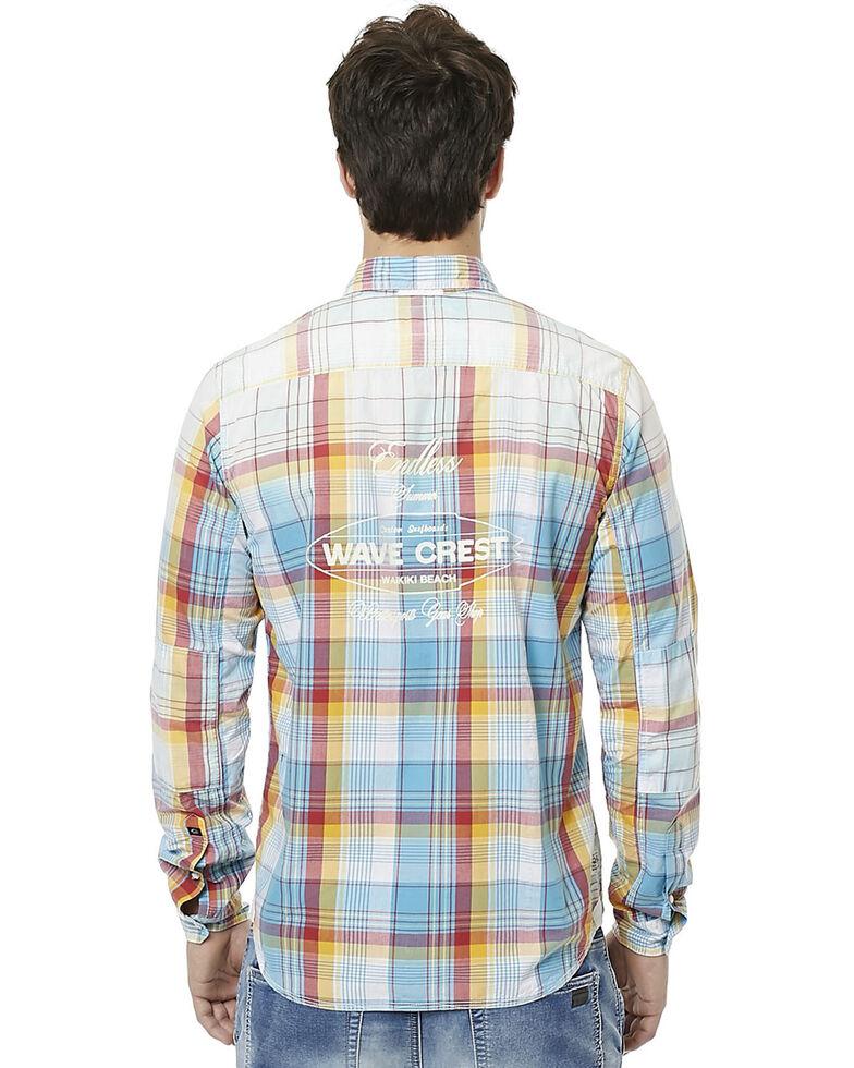 Buffalo Men's Sijax Plaid Long Sleeve Western Shirt , Plaid, hi-res