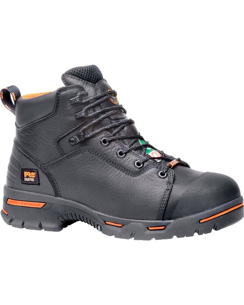 "Timberland Pro Men's 6"" Endurance Premium WP Boots - Steel Toe, Black, hi-res"