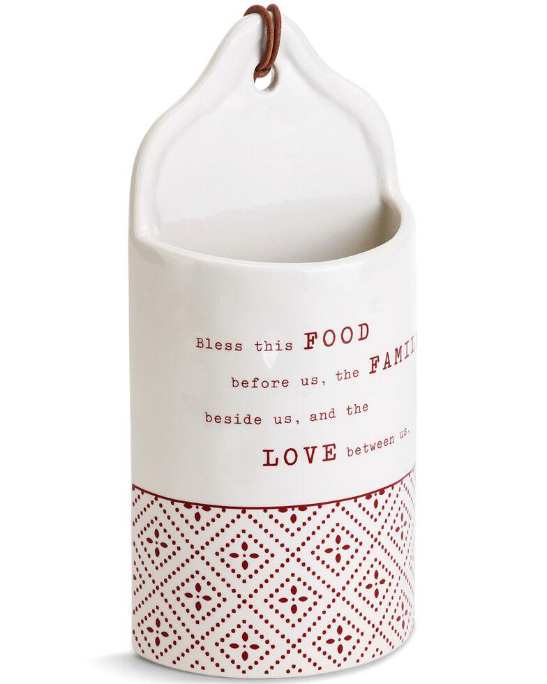 Demdaco Ceramic Food, Family, Love Crock, White, hi-res
