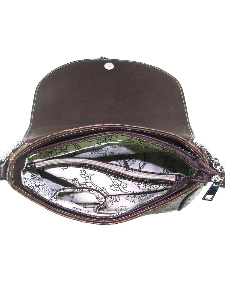 Savana Women's Faux Leather Tooled Handbag , , hi-res