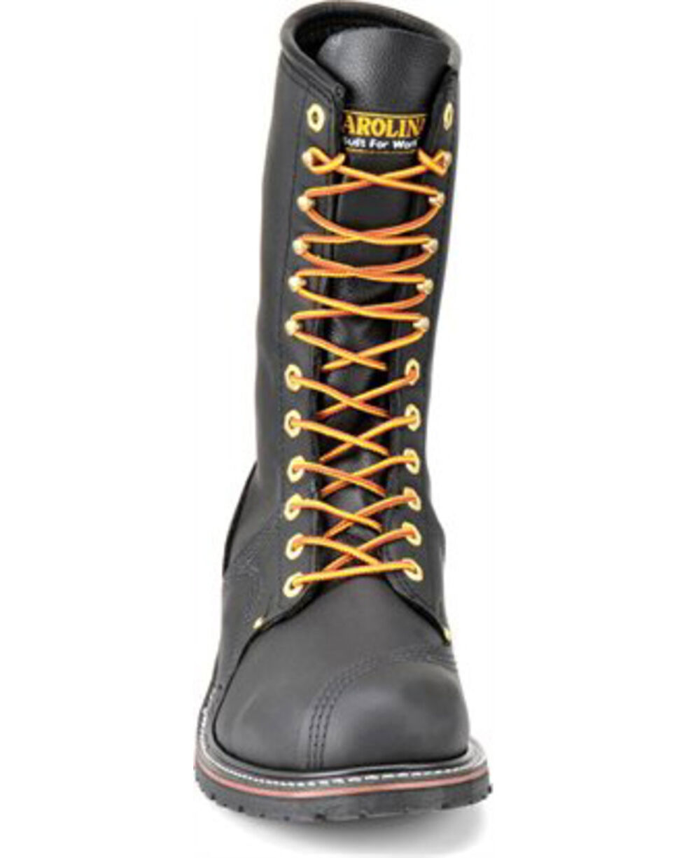 Carolina Men's Pro Steel Toe Pole Climber Boots, Black, hi-res